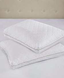 Wonder Wool 300 Thread Count Cotton Sateen Quilted Pillow Pair Collection