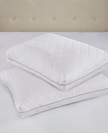 Sleep Philosophy Wonder Wool 300 Thread Count Cotton Sateen Quilted Pillow Pair Collection