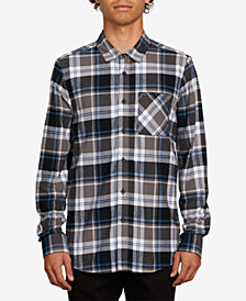Volcom Mens Caden Plaid Long-Sleeve Shirt