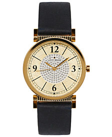 Lucky Brand Women's Carmel Navy Leather Strap Watch 34mm