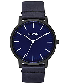 Nixon Men's Porter Leather Strap Watch 40mm A1058