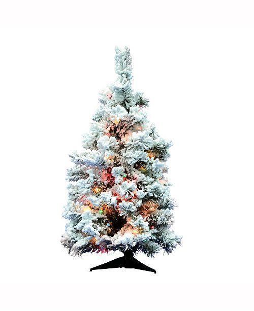 Vickerman 36 Inch Flocked Alaskan Pine Artificial Christmas