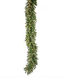 9 ft Douglas Fir Artificial Christmas Garland With 50 Clear Lights