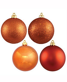 "Vickerman 2.4"" Burnish Orange 4-Finish Ball Christmas Ornaments, 24 Per Box"