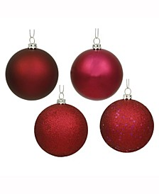 "3"" Wine 4-Finish Ball Christmas Ornament"