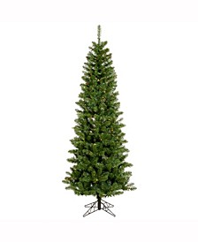 6.5 ft Salem Pencil Pine Artificial Christmas Tree With 250 Multi-Colored Lights