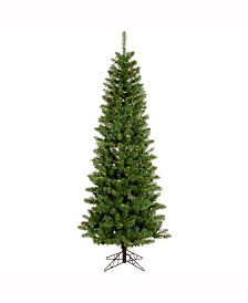 Vickerman 6.5 ft Salem Pencil Pine Artificial Christmas Tree With 250 Multi-Colored Lights
