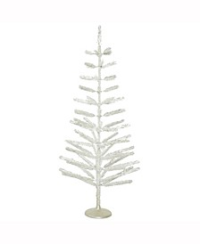 5' Silver Feather Artificial Christmas Tree Unlit