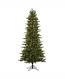 Vickerman 7.5 ft Kennedy Fir Slim Artificial Christmas Tree With 500 Clear Lights