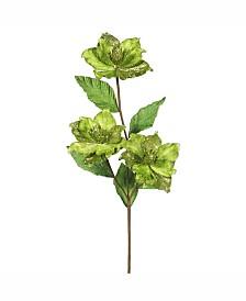 "Vickerman 33"" Lime Magnolia Artificial Christmas Flower"