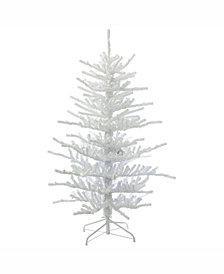 Vickerman 7.5' Flocked Twig Artificial Christmas Tree