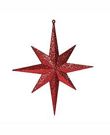 "Vickerman 12"" Red Iridescent Glitter Bethlehem Star Christmas Ornament, 2 Per Box"