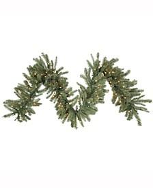 9 ft X 14 inch Colorado Spruce Garland, 100 Clear Dura-Lit Ul Lights, 230 Pe/Pvc Tips