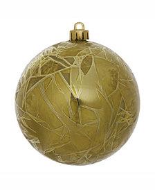 "Vickerman 6"" Olive Crackle Ball Christmas Ornament"