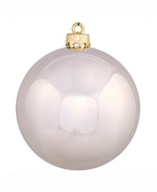 "4.75"" Champagne Shiny Ball Christmas Ornament"