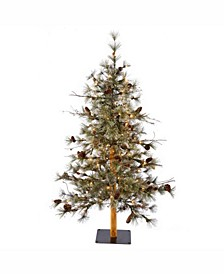 4 ft X 32 inch Dakota Alpine Artificial Christmas Tree With 70 Clear Lights