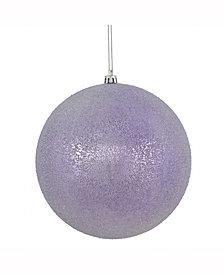 "Vickerman 8"" Lavender Iced Ball Ornament"