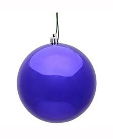 "2.4"" Purple Shiny Uv Treated Ball Christmas Ornament"
