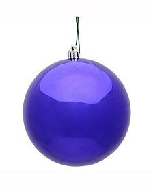 "Vickerman 2.4"" Purple Shiny Uv Treated Ball Christmas Ornament"