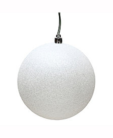 "Vickerman 3"" White Glitter Ball Christmas Ornament"