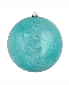 "10"" Teal Shiny Mercury Ball Christmas Ornament"