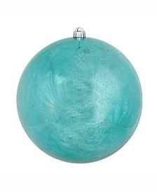 "Vickerman 10"" Teal Shiny Mercury Ball Christmas Ornament"