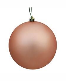 "6"" Rose Gold Matte Ball Christmas Ornament, 4 Per Bag"