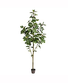 Vickerman 8' Artificial Potted Fig Tree With 100 Leaves
