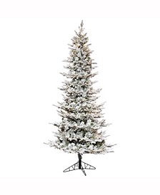"6.5' X 39"" Flocked Kiana Artificial Christmas Tree"