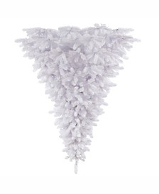 Vickerman 6 ft White Upside Down Artificial Christmas Tree Unlit