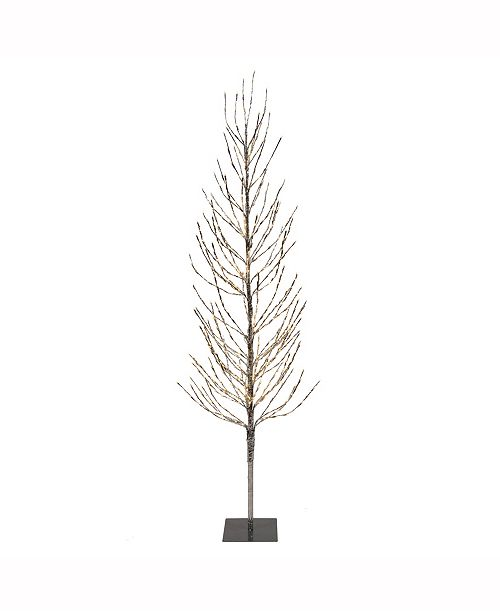 7 Silver Artificial Christmas Tree With 680 Warm White Led Lights