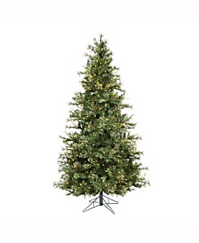 Vickerman 7.5 ft Mixed Country Pine Slim Artificial Christmas Tree
