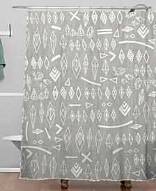 Iveta Abolina White Morning Shower Curtain