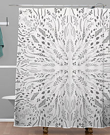 Deny Designs Iveta Abolina Gray Maze Shower Curtain