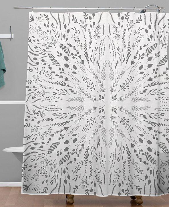 Deny Designs Iveta Abolina Gray Maze Shower Curtain