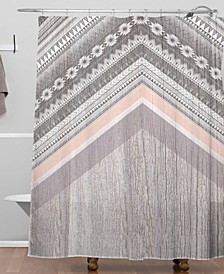 Iveta Abolina Cream Trails Shower Curtain