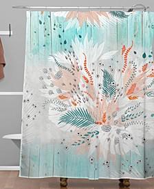 Iveta Abolina Tropical Teal Shower Curtain
