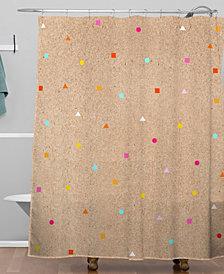 Deny Designs Iveta Abolina Peach Taffy Shower Curtain
