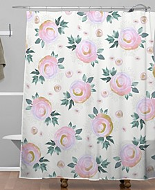 Iveta Abolina Rose Taffy Shower Curtain
