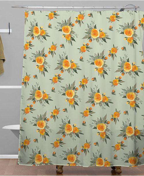 Deny Designs Iveta Abolina Tangerine Burst Shower Curtain
