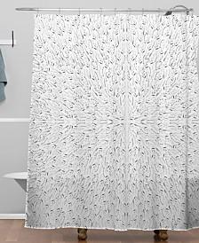Deny Designs Iveta Abolina Grey Fog Shower Curtain