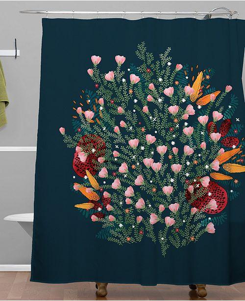 Deny Designs Iveta Abolina Ruby Dusk Shower Curtain