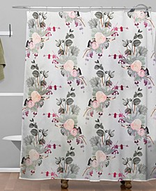 Iveta Abolina Rose Blush Shower Curtain