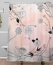 Iveta Abolina Coral Dust Shower Curtain