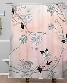 Deny Designs Iveta Abolina Coral Dust Shower Curtain