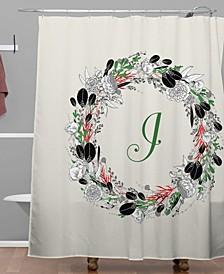 Iveta Abolina Silver Dove Christmas I Shower Curtain