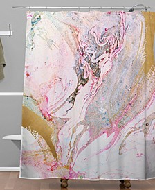 Iveta Abolina Winter Marble Shower Curtain