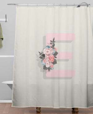 Deny Designs Iveta Abolina Pivoine E Shower Curtain Bedding