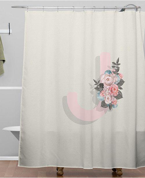 Deny Designs Iveta Abolina Pivoine J Shower Curtain