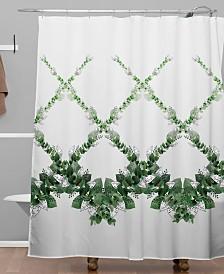 Deny Designs Iveta Abolina Eucalyptus Garland Shower Curtain